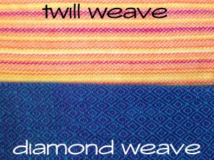 twill vs diamond weave