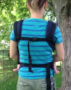 unable to cross the shoulder straps in the back